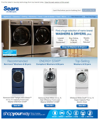 Click to view this Jan. 2010 Sears browse-based email full-sized