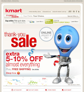 Click to view this Jan. 9, 2011 Kmart email full-sized