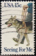 1979年アメリカ合衆国 ジャーマン・シェパードの切手