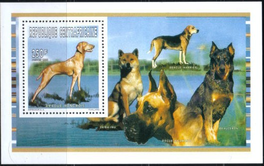 1996年中央アフリカ共和国 ビズラの切手シート