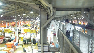 inside view of Jurong Fish Port from elevated walkway