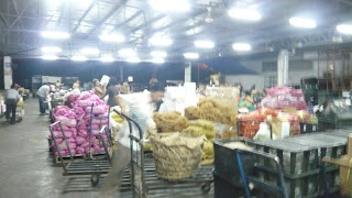 view of Pasir Panjang Veg wholesaler center at night