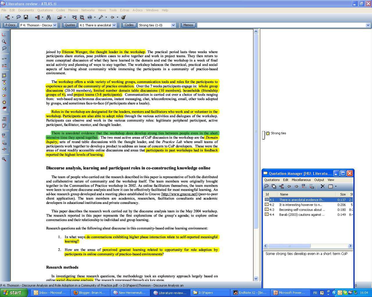 over quoting in a research paper Writing a research paper is an important skill you need to learn in order to do a paper properly this is the most common citation in a paper proper paraphrasing is an art this does not mean changing a few words around more information on direct quotes and direct quotes over four lines to follow.