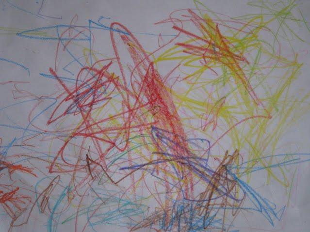 Crayon Scribble Drawing : Generation freedom scribble crayon art