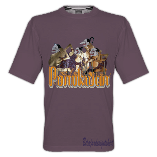 Belajar design t-shirt | Punokawan t-shirt design