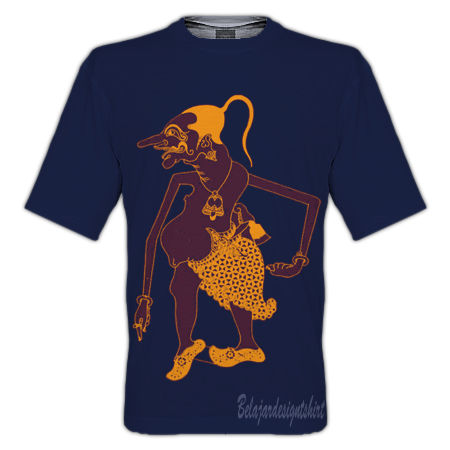 belajar design t-shirt | wayang petruk t-shirt design