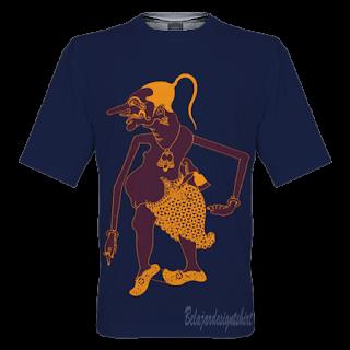 belajar design t-shirt   wayang petruk t-shirt design