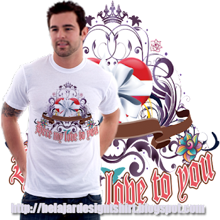 belajar design t-shirt | Here my love t-shirt design