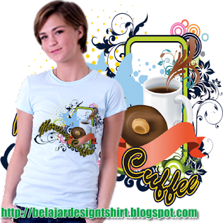 belajar design t-shirt | Coffee donut t-shirt design