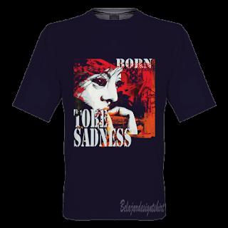 Belajar design t-shirt | Sadness taste t-shirt design