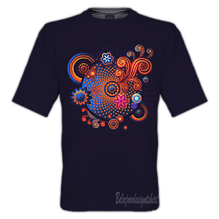 belajar design t-shirt | Complicated swirl t-shirt design