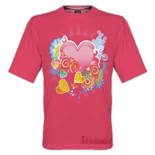 belajar design t-shirt | Love swirl t-shirt design