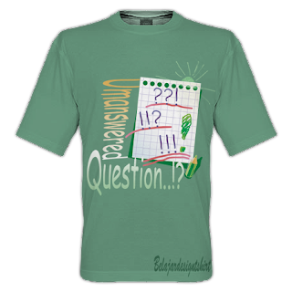 belajar design t-shirt | Unanswered question t-shirt design