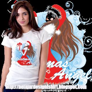 Iskaruji dot com | Christmas angel t-shirt design