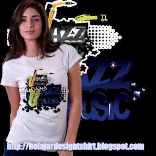 Belajar design t-shirt | JAZZ MUSIC GENRE T-SHIRT