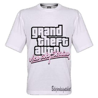 Belajar design t-shirt | GTA VICE CITY T-SHIRT