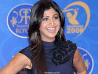Photos of Shilpa Shetty in a news conference for Rajasthan Royals - 02