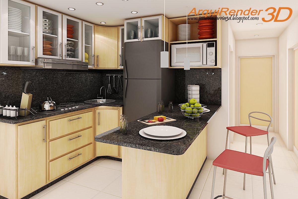 Arquirender3d cocina 2 x 2 - La oportunidad cocinas ...