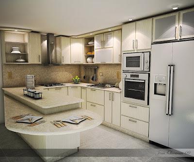 Arquirender3d cocina 01 dise o profesional for Programa diseno cocinas profesional