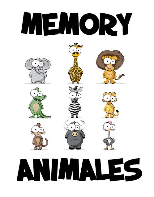BREAL-Dislexia: Memory Animales en mayúscula y en minúscula