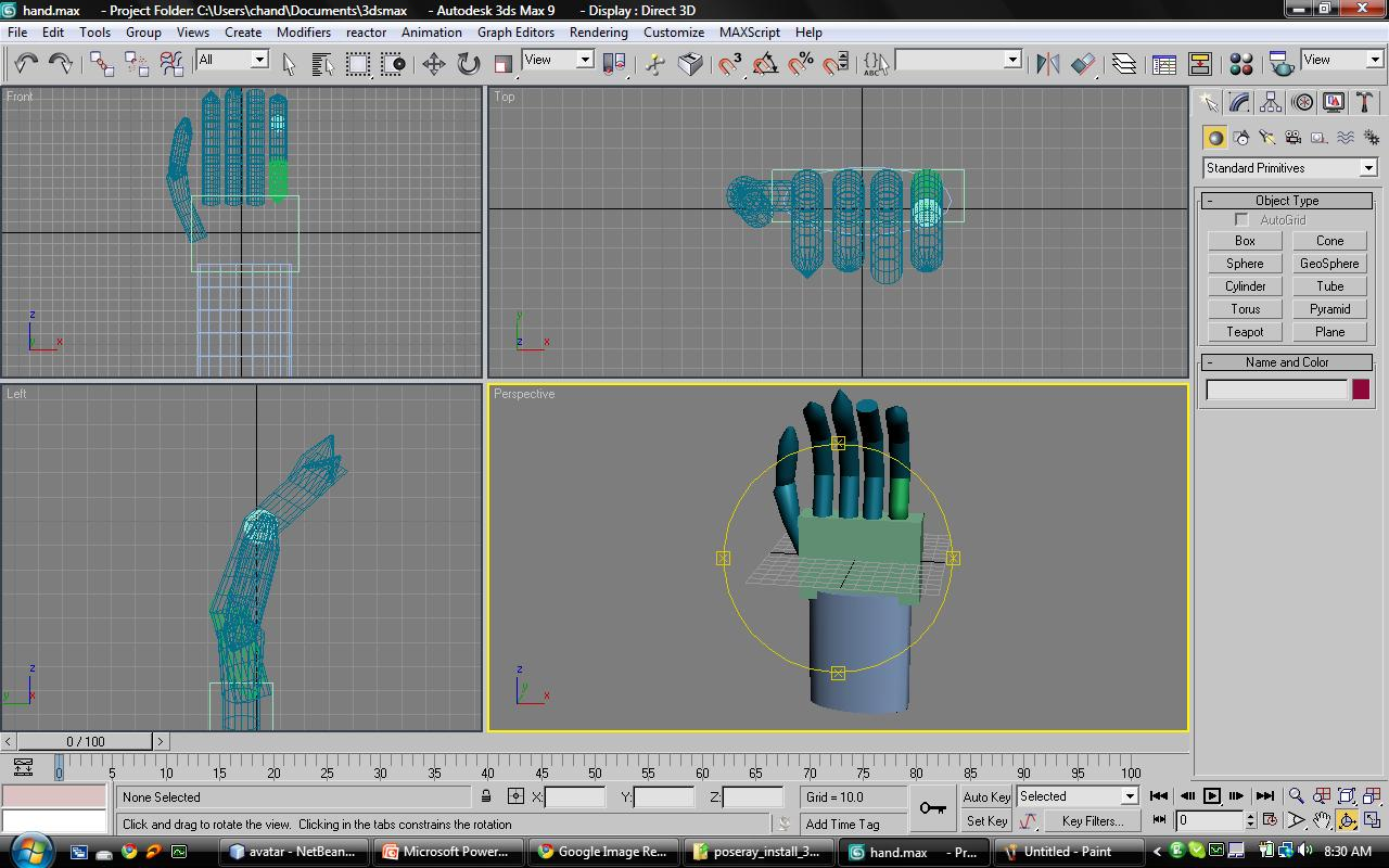 Engineer inside so as the idiots 3d hand modeling for Studio max 3d