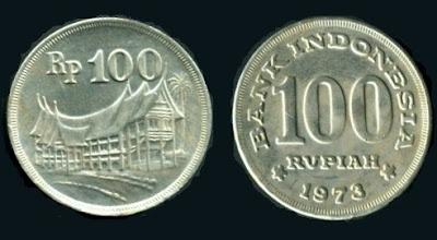 Uang Koin 100 Rupiah 1973