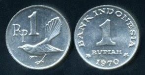 Uang Koin 1 Rupiah 1970