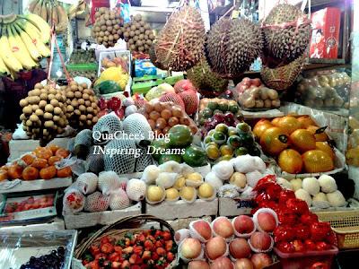 shanghai, fruit stall