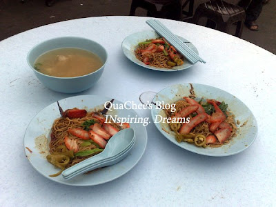 muar food, wan tan mee