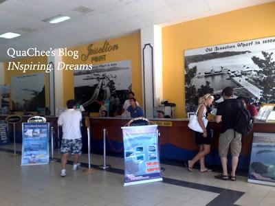 jesselton point, ticket counter