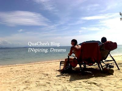 manukan island beach chair