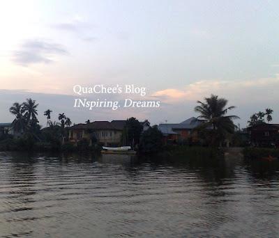 kuching river cruise, kampung