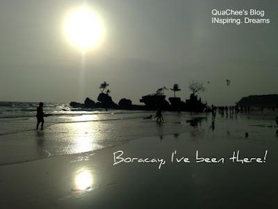 boracay white beach postcard