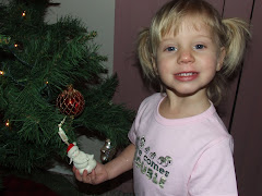 Jayda and her Xmas ornament