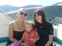 Andrea, Jayda, Kristen boating at Harrison