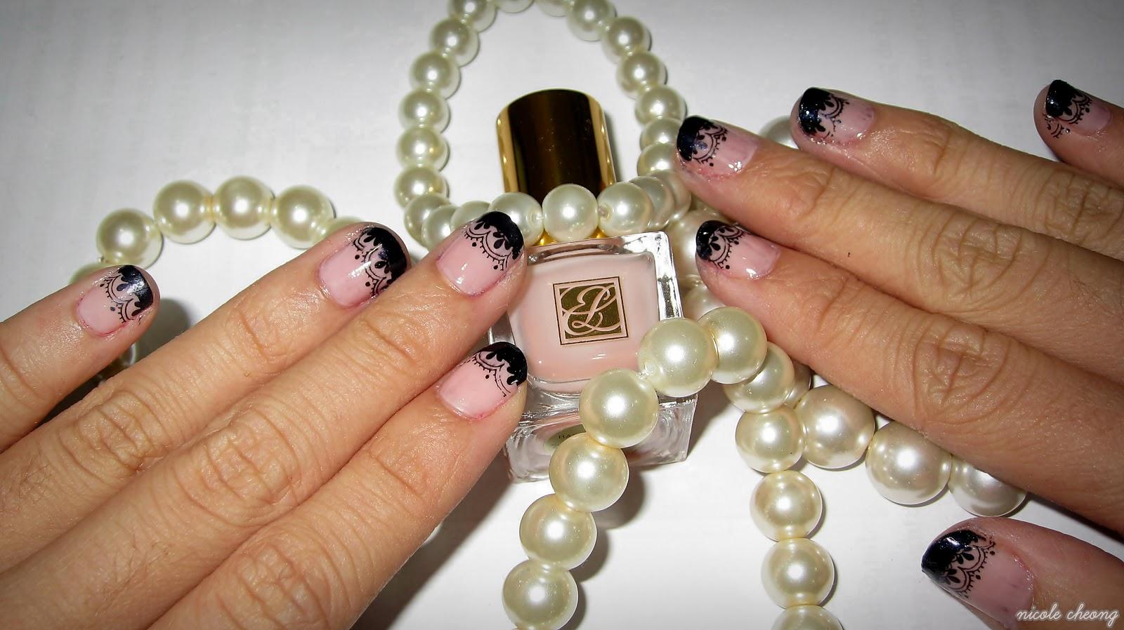 Фото ногтей френч с ажурные