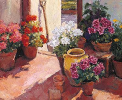 Sketsa Bunga Contoh Lukisan Pasu Bunga Pecah