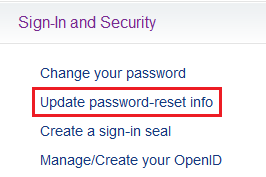 Update password-reset info