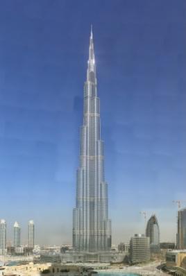 عکس پانوراما از برج خلیفه