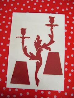Stickers (Le roi et le bon Saint Eloi) bougeoirs tarabiscotés avec  abats-jour  pour donner de