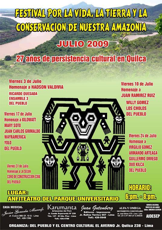 FESTIVAL POR LA VIDA, LA TIERRA Y LA CONSERVACION DE NUESTRA AMAZONIA EN LIMA