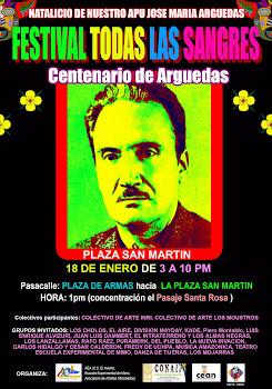 """18 DE ENERO: """"AÑO DEL CENTENARIO DEL NACIMIENTO DE JOSÉ MARÍA ARGUEDAS"""""""