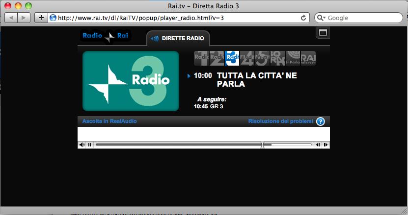 Radiopassioni radio rai cambia il formato di streaming online for Radio parlamento streaming