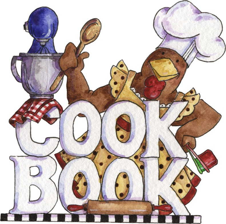 Clipart For Cookbook Cover : Desenhos para pinturas e decoupage