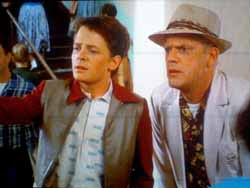Marty McFly and Doc Brown in Back to the Future