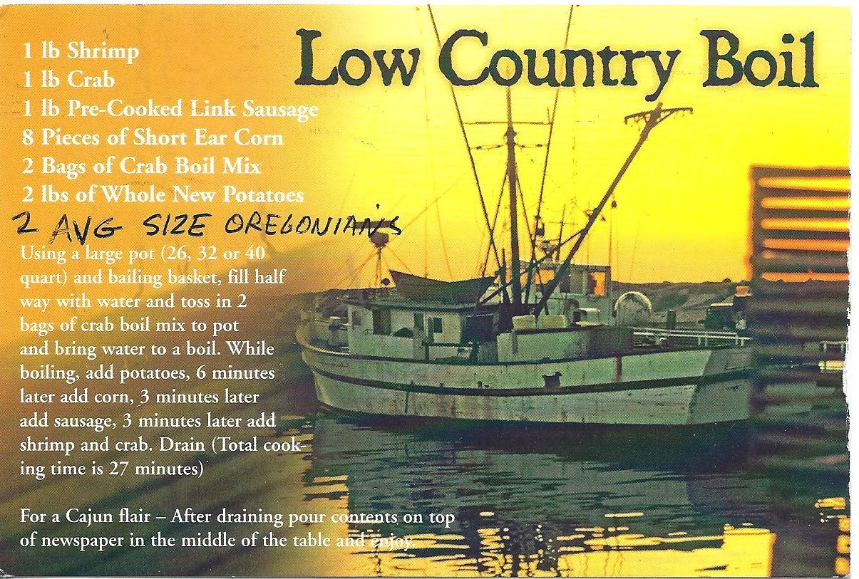 A Plethora Of Postcards Low Country Boil