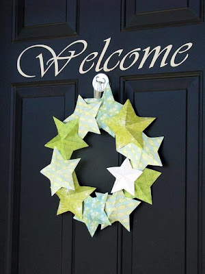 paper crafts: 3-d star wreath tutorial