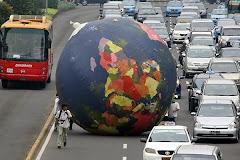 Protesto em Jacarta contra a poluição