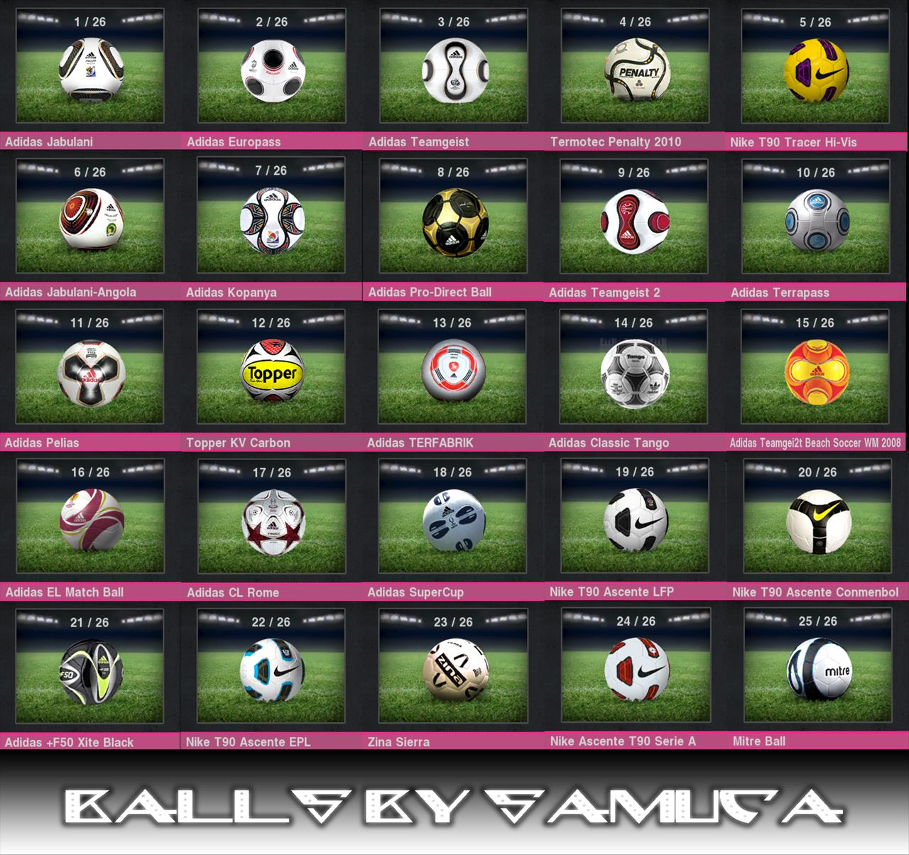 Pes 2010 Demo: PES 2010 Ballpack By Samuca • PESPatchs
