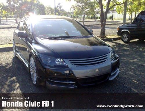 Honda Civic FD 1 Modification by H2OBodyWork - Bandung